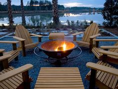 Find ideas for outdoor fire pit and fireplace designs that let you get as simple or as fancy as your time and budget allow, from DIYNetwork.com.