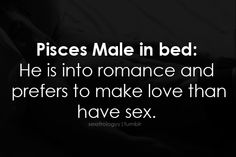 In bed with the Pisces male