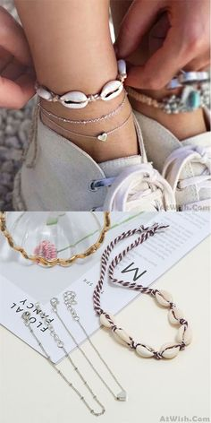 Waxed Rope Sea Wave Barefoot Beach Anklet Fashion Women Girls Date Bracelet Anklets for Women