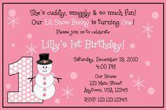 Winter ONEderland Birthday Invitation  BOY OR by PinkInkCreation, $13.00