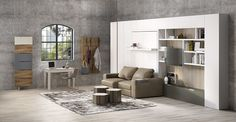 Resource Furniture is the largest, most complete source for modern, space saving furniture including the finest Murphy beds and wall beds, made in Italy by Clei.