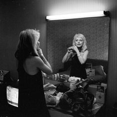Debbie Harry in Hotel, Europe circa '77-78 by Chris Stein.