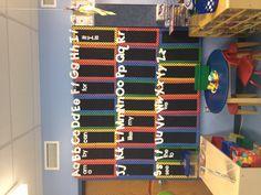 My classroom word wall made with my cricut.