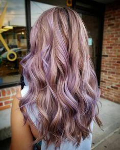 Ash Brown Hair With Highlights, Brown Hair With Blonde Balayage, Brown Bob Hair, Hair Color Balayage, Purple Highlights Blonde Hair, Purple Peekaboo Highlights, Thick Highlights, Lavender Highlights, Honey Highlights