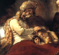 Rembrandt  | 1656 Rembrandt Jacob bénissant les fils de Joseph Jacob blessing wire ...