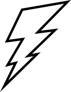 free lightning bolt stencil lightening clip art templates rh pinterest com free clip art lightning bolt lightning bolt clipart black and white