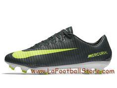 best service addfa 4ff70 Nike Mercurial Vapor XI CR7 FG Chaussure de football à crampons pour terrain  sec pour Homme Noir Volt