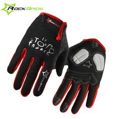 Rockbros Spring Cycling Gloves Long finger Bicycle Gloves Padded Touch Screen Sport Bike Glove Anti-shock Full Ciclismo Guantes