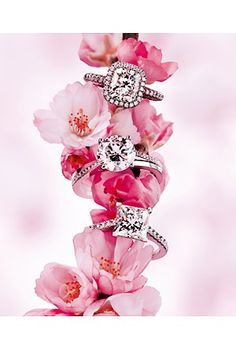 DeBeers diamond engagement rings Sakura cherry blossom