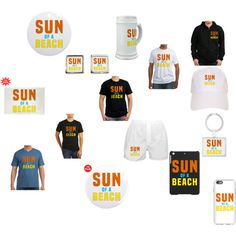 Sun Of A Beach by polyart-466 on Polyvore featuring men's fashion and menswear