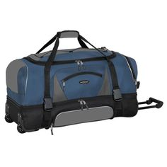 "Adventurer Duffel Collection- 36"" 2-Section Drop Bottom Rolling Duffel  in   Navy and Black Travelers Club http://www.amazon.com/dp/B008NX62EO/ref=cm_sw_r_pi_dp_3lGeub04F258T"