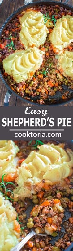 So tasty and hearty, this Easy Shepherd's Pie with Leftover Mashed Potatoes will surely become your family's favorite! ❤ COOKTORIA.COM