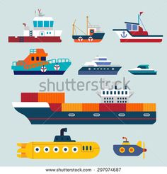 Travel Boat Stock Vectors & Vector Clip Art | Shutterstock