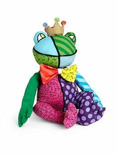 Patchwork Plush Frog - $35