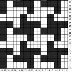 Houndstootch pattern - crochet pattern blanket - Crochet graph - Crochet pattern - Blanket pattern - Corner to corner - Black White Crochet C2c, Graph Crochet, Tapestry Crochet, Crochet Blanket Patterns, Baby Knitting Patterns, Knitting Charts, Knitting Stitches, Knitted Blankets, Houndstooth
