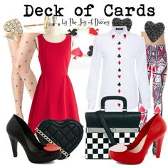 Disney Cosplay {Alice in Wonderland}: Deck of Cards - Disneybound Disney Themed Outfits, Disney Bound Outfits, Disney Dresses, Disney Clothes, Alice In Wonderland Outfit, Wonderland Costumes, Wonderland Party, Disney Inspired Fashion, Disney Fashion