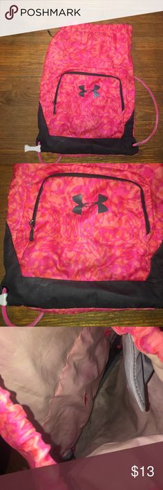 367bee720e14 Shop Women s Under Armour Pink Gray size OS Backpacks at a discounted price  at Poshmark. Description  Has signs of wear flexible on price.