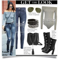 A fashion look from September 2015 featuring H&M jeans, Isabel Marant boots and Yves Saint Laurent shoulder bags. Browse and shop related looks.