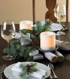 Looking for a center piece for your holiday gathering? This birch log centerpiece brings the outdoors inside beautifully!  Find inspiration on Joann.com!