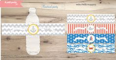 Beach Water Bottle Wrappers- Beach Theme party