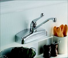 peerless choice 2-handle wall mount kitchen faucet in chrome