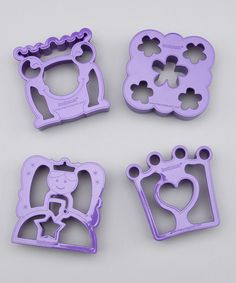 Here is a great Idea for a little princess!  The Lunch Punch Purple Sandwishes Sandwich Cutter Set $8.99 at @zulily today!