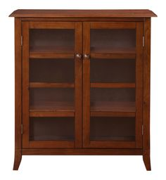 Amazon.com: Simpli Home Devon Medium Storage Cabinet, Medium Mahogany Brown: Kitchen & Dining