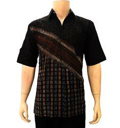 BAJU Batik Pria Warna Navy Model Baju Kemeja Pria Terbaru  Baju