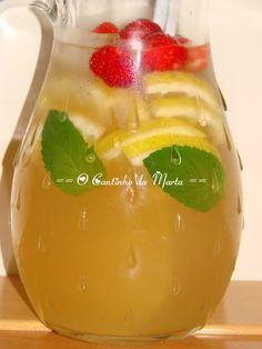 O Cantinho da Marta: Limonada Aromatizada com Morangos