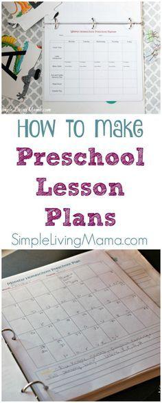 How To Make Preschool Lesson Plans - Simple Living Mama