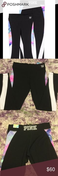 NWT✨ VS PINK pastel marble legging New with tags, Victoria's Secret PINK ultimate leggings in Pastel Marble. This print is no longer sold in store, bought it a while back hut never worn. Has just been sitting in my closet. I have a bunch of other leggings from VS PINK and Nike listed on my closet. Please check them out, you can bundle together to save on shipping. Let me know if you have any questions! Feel free to make offers :) PINK Victoria's Secret Pants Leggings