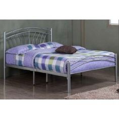 Tuscany 4ft6 Double Silver Metal Bed Frame