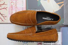 PJOHNSON Tailors- Cognac Suede Driving Shoe  Custom For MA