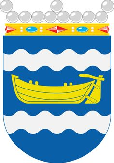 Coat of arms of historical region Uusimaa Coat Of Arms, Symbols, Badges, Finland, Crests, Family Crest, Icons