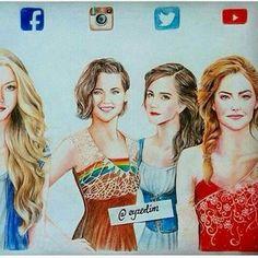 The Twitter one looks like Emma Watson!! I love her soooooo much