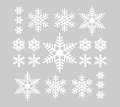 21 Vinyl Snowflake Decals for the Holidays- Christmas Winter Snowflakes Decorations - For Windows, Door, Wall, Christmas Stickers