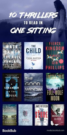 10 thriller books to read in one sitting, including a great list of psychological thrillers packed with suspense and twists. Including great Halloween books.
