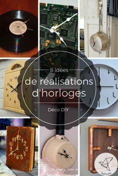 8 idées de réalisation d'horloges déco DIY