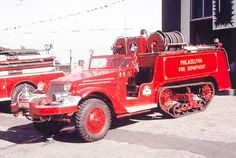 1944 White Half Track 1000 gallon pumper....
