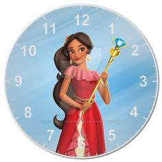 Elena of Avalor by SilhouettesbyMarie on DeviantArt Clock Face Printable, Retro Alarm Clock, Handmade Clocks, Telling Time, Teaching Kids, Cartoon Characters, Miniatures, Deviantart, Clock Faces