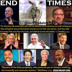 Exposing apostasy in the church, false prophets, false teachers, false doctrines, apostate pastors. Bible End Time prophecy