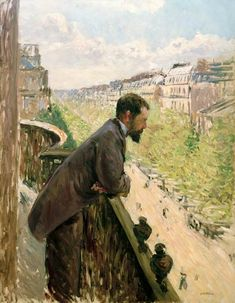 Gustave Caillebotte-Man on a Balcony