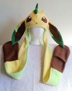 Leafeon Fleece Pokemon Hat by HatShenaniganz on Etsy