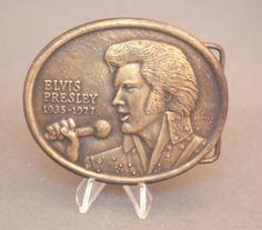 Vintage 1977 Elvis Presley belt buckle, available at our eBay store! $30