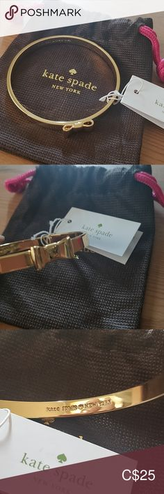 Kate Spade bangle/bracelet NWT New with tags, never used gold bracelet. Comes with duster bag kate spade Jewelry Bracelets
