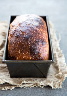 Homemade Sandwich Bread Recipe stir it, leave it in the fridge, bake in a few days later  | Leite's Culinaria