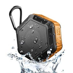 SinoPro Bluetooth Speaker Portable Wireless Outdoor Shower Speaker with NFC Waterproof Grade 12 Hours Playtime Built-in Mic for iPhone, Android Smartphone and other Bluetooth Devices (Orange) Subwoofer Speaker, Stereo Speakers, Bluetooth Speakers, Portable Speakers, Bluetooth Gadgets, Sound Speaker, Smartphone, Tablet Phone, Uganda