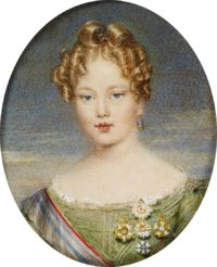Maria II (1819 - 1853). Daughter of Pedro IV and Maria Leopoldine of Austria. She married twice and had children.