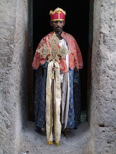 ethiopian orthodox priest, ashetan maryam monastery, near lalibela, ethiopia
