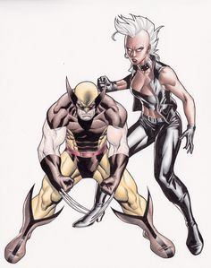 Wolverine and Storm colored pencil by ~Clayton-Henry on deviantART